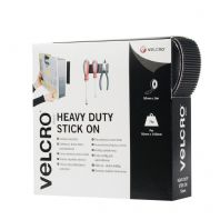 VELCRO® Brand Heavy Duty Stick On Tape - 50mm x 5m Black